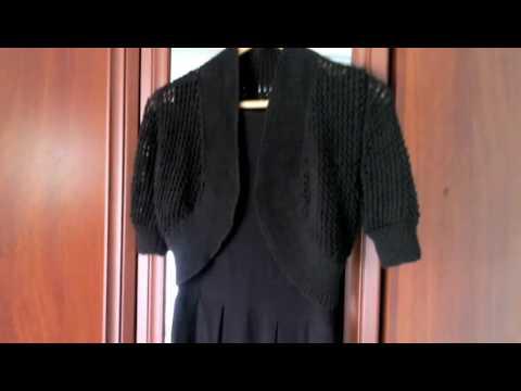 Болеро на спицах. Bolero knitting