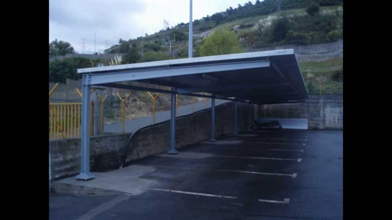 Construcci n de marquesinas para parking youtube for Techados para coches