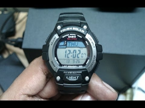 Casio W-S220 unboxing and opinion. Tough solar runners watch, D092