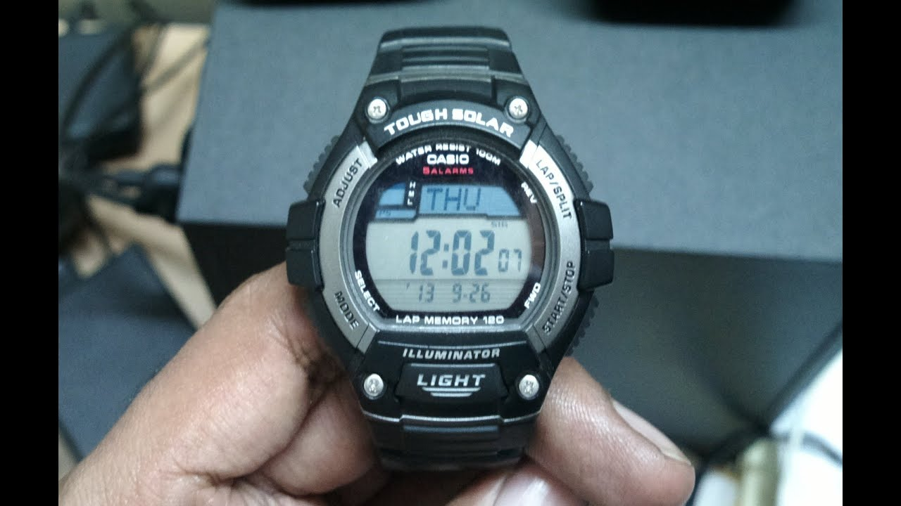 16692593df3 Casio W-S220 unboxing and opinion. Tough solar runners watch