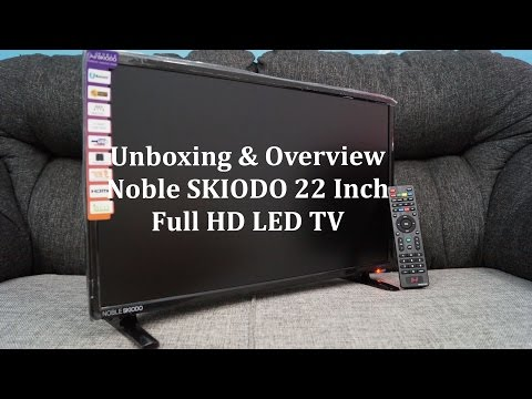 Noble SKIODO 22 Inch Full HD LED TV Unboxing With My Cat