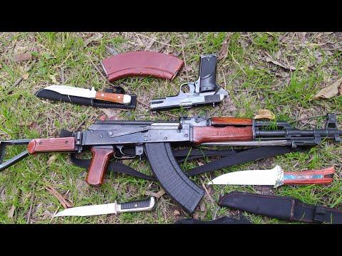 AK-47 56 Model China Full Auto 7.62x39 USA Magazine Pistol And Other Daggers