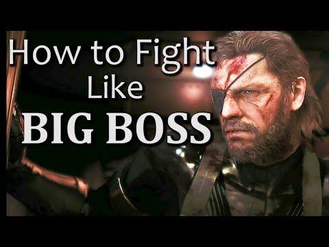 BIG BOSS CQC Techniques | Metal Gear Solid 5 Melee Combat