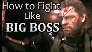 BIG BOSS CQC Techniques | Metal Gear Solid 5 Melee Combat