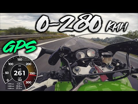 Kawasaki  ZX-9R 0-280 Km/h - GPS - TOP SPEED - ACCELERATION - TIMING