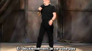 George Carlin, 1996, Politiciens, vote et élections (STFR)