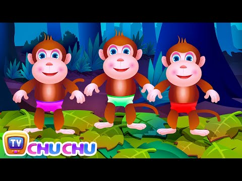Thumbnail: Five Little Monkeys Jumping On The Bed | Part 1 - The Naughty Monkeys | ChuChu TV Kids Songs