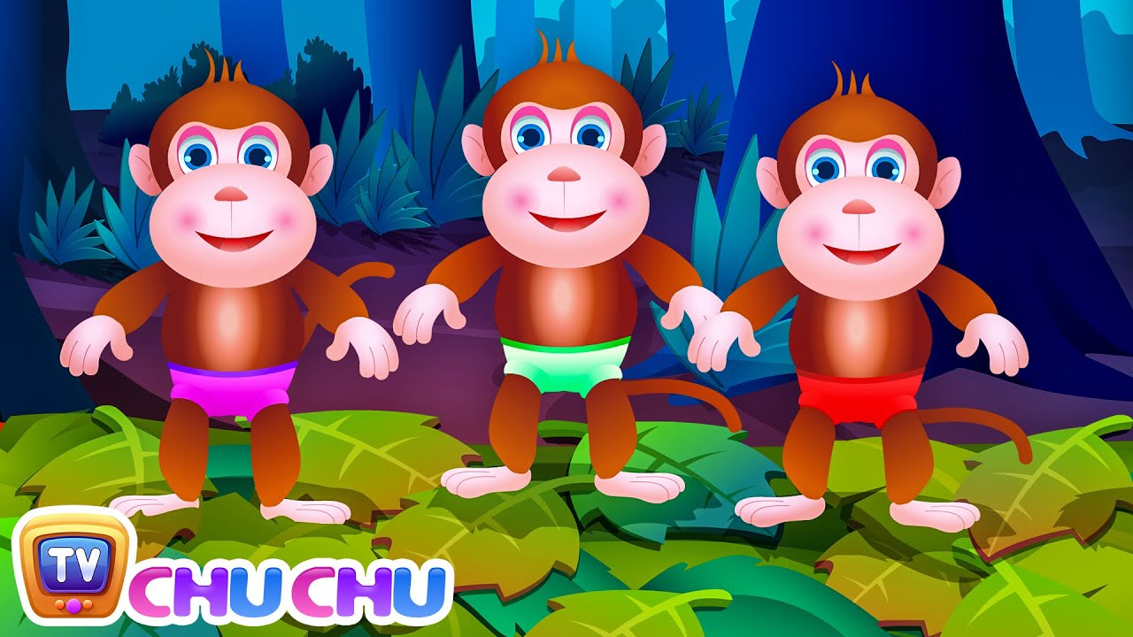 Five Little Monkeys Jumping On The Bed | Part 1 – The Naughty Monkeys | ChuChu TV Kids Songs