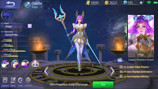 Odette Virgo Zodiac Skin Shop Animation Preview