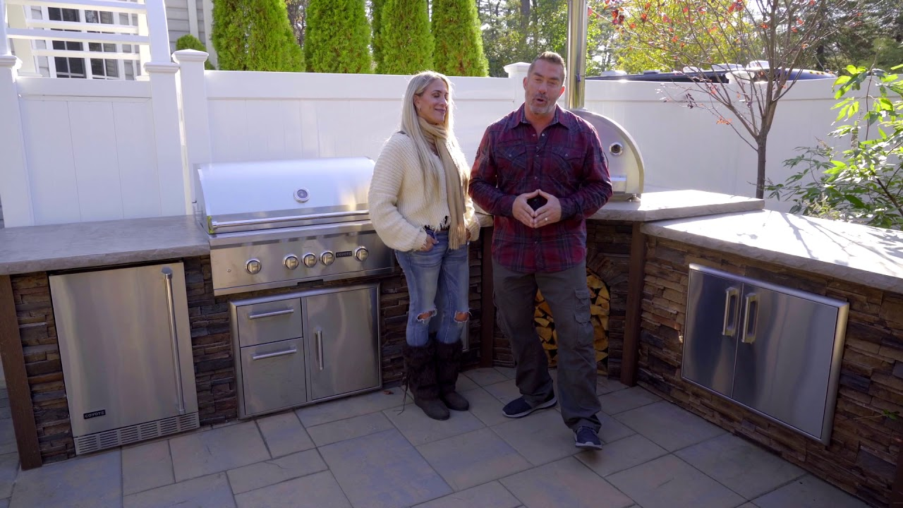 Coyote Outdoor Kitchen Reveal With Skip And Alison Bedell Youtube