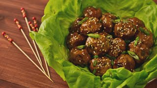 Chicken Teriyaki Meatballs  Hungry AF