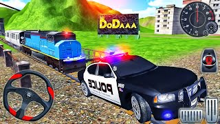 Police Car and Trains Driver Simulator 2021 - 3D Driving Car Open City - Android GamePlay screenshot 5