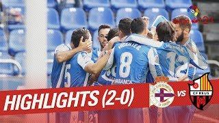 Resumen de RC Deportivo vs CF Reus (2-0)
