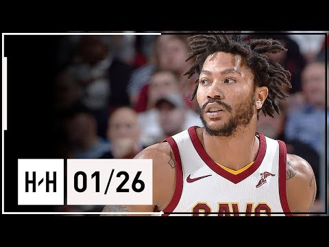 Derrick Rose Full Highlights Cavaliers vs Pacers (2018.01.26) - 14 Pts in 15 Min | 2017-18 Season