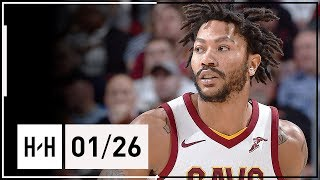 Derrick Rose Full Highlights Cavaliers vs Pacers (2018.01.26) …