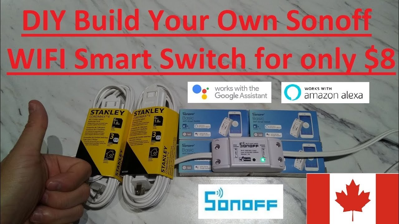 eBay ca] Sonoff Smart switch for DIYer $7 72 free shipping   Works