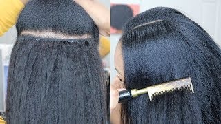 "*YOU CAN'T TELL ISSA WEAVE* ""Old Skool"" Glue In Weave Tutorial 