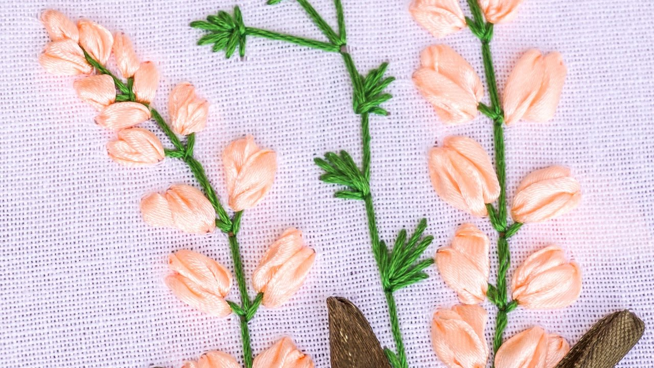 Hand embroidery flower pattern with ribbon cotton floss threads hand embroidery flower pattern with ribbon cotton floss threads handiworks 85 jeuxipadfo Choice Image