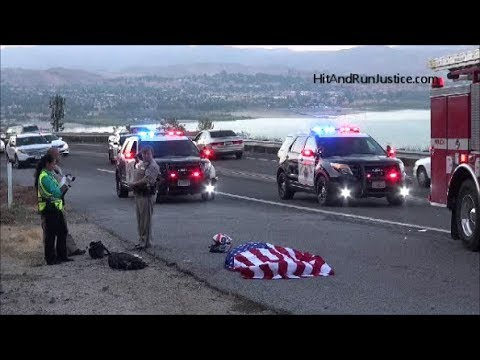 September 18, 2017 Fatal BMW Motorcycle vs  Hyundai Crash Lake Elsinore, CA Hwy 74