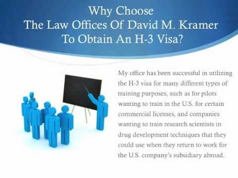 H-3 Visa: Law Offices of David M. Kramer