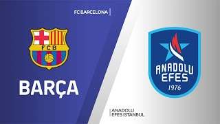 FC Barcelona - Anadolu Efes Istanbul Highlights | Turkish Airlines EuroLeague, RS Round 24