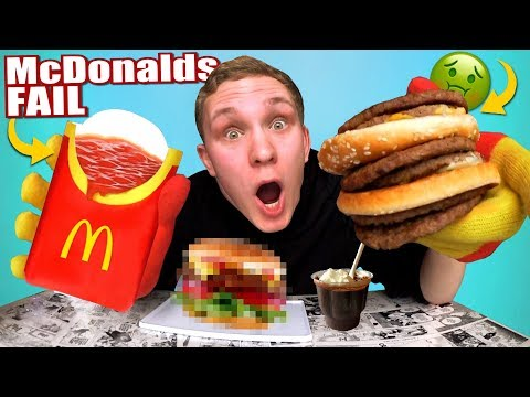 McDonalds FAIL REVIEW! Produkte FALSCH ESSEN!