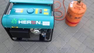 Generator prądotwórczy Heron trójfazowy 4 kw na gaz LPG, gaz ziemny NG i benzynę