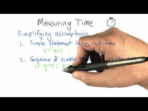 Measuring Time - Intro to Algorithms