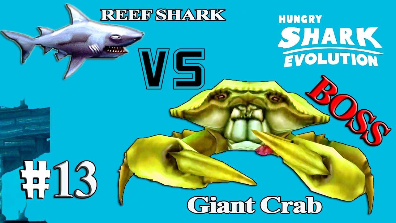 Hungry shark evolution megalodon vs giant crab - photo#32