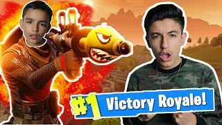 The Best Fortnite Battle Royale Mode! Hilarious High Explosives Mode With Brother!