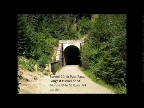 Milwaukee Road slide Show tour St Maries Idaho to St Reggis Montana