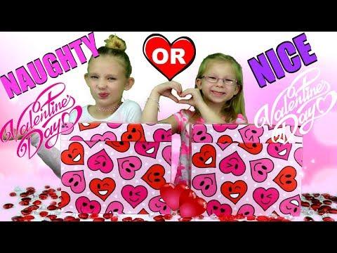 NAUGHTY OR NICE Valentine's Day Present Challenge!!!