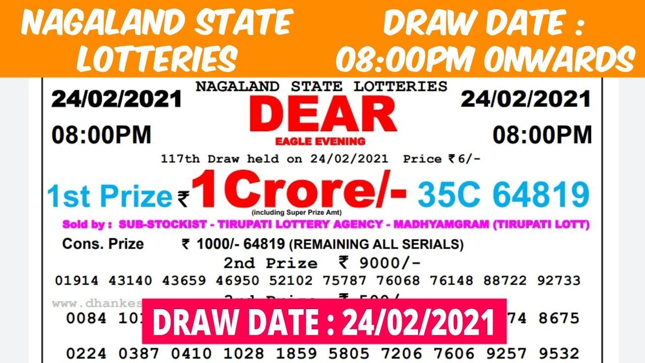 Lottery Sambad Lottery Live 08.00pm 24.02.21 Nagaland State Lottery Result gdn #lotterysambad