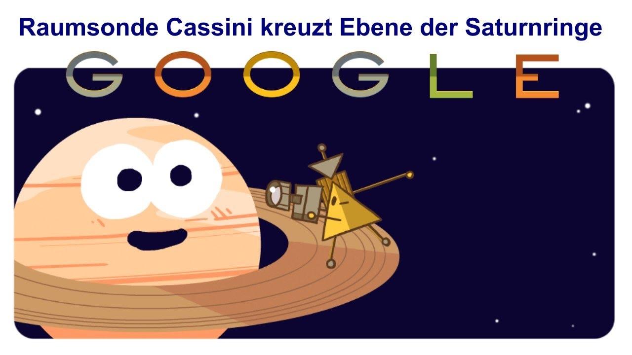 🚀 Cassini–Huygens Sonde 🛰 Cassini Spacecraft 📆 26. April 2017 (Google Doodle)