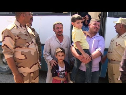First families return to homes in Iraq's Fallujah