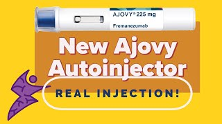 Ajovy Autoinjector - Stop Migraines - So Easy - Real Injection