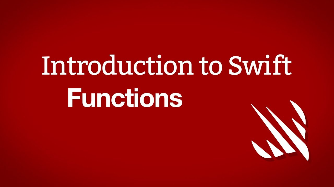 Introduction to Swift: Functions