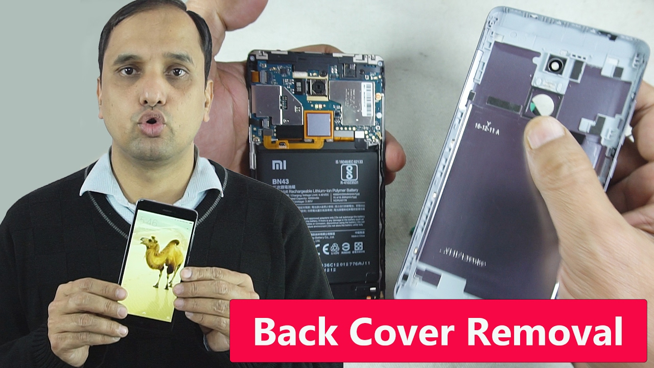 4f55f2eed77 How to Remove Back Cover of Xiaomi redmi Note 4 - YouTube