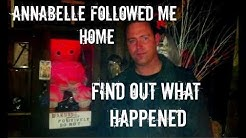 ANNABELLE DOLL DEMON FOLLOWED ME HOME! CASE UNLOCKS DURING LIVE STREAM THAT HOLDS ANNABELLE! PART 1