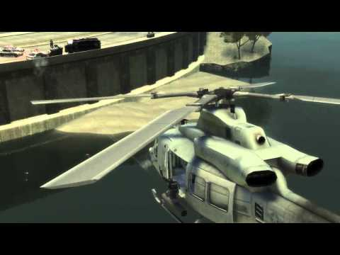 GTA IV - Bell UH-1Y Venom Helicopter [Some Action!]