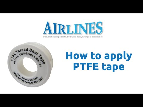 How To Apply PTFE Tape  Airline Pneumatics