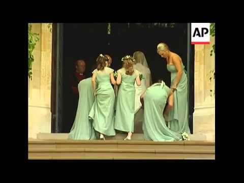 Queen's eldest grandson marries Canadian fiancee at Windsor Castle