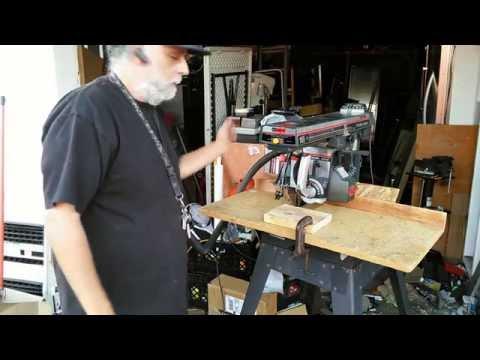 Classic Craftsman Radial Arm Saw Demonstration (Powertool Central)