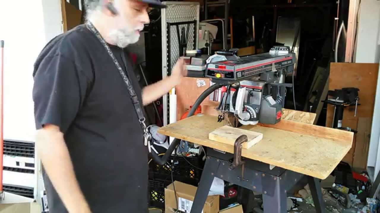 Classic Craftsman Radial Arm Saw Demonstration Powertool