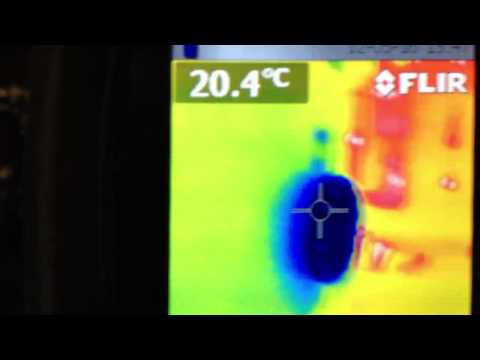 Flir thermographic camera at engine room