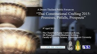 Thai Constitution-Crafting 2015: Premises, Pitfalls, Prospects 1/3