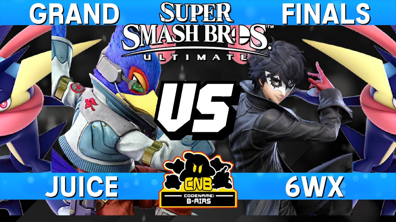 Smash Ultimate Tournament Grand Final - Juice (Falco / Greninja) vs 6WX  (Joker / Greninja) - CNB 203