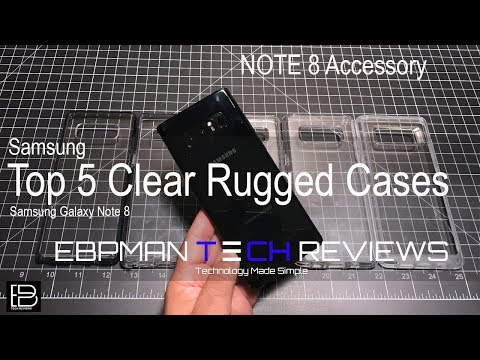 Top 5 Clear Rugged Cases for the Samsung Galaxy Note 8