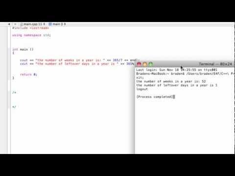 Integer division and remainders using the modulus (%) operator (C++ programming tutorial)