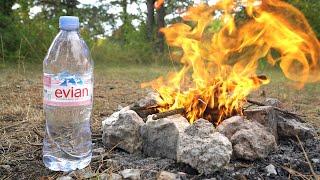 Comment allumer un feu avec une bouteille d'eau